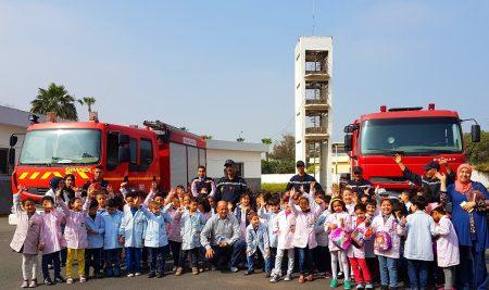 Visite de la caserne des pompiers